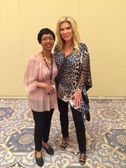 Me with Ali Brown_Steve Harvey's SOAR Retreat Oct 2015_An American entrepreneur, business coach, author, speaker, and television commenta